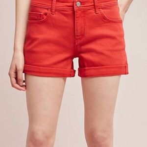 Anthropologie Bright Orange Shorts